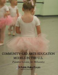 community-led arts education models in the us - Public Policy Forum