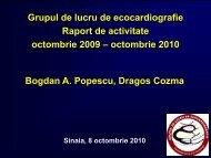 Raport activitate GLE Sinaia 2010 - Cardioportal