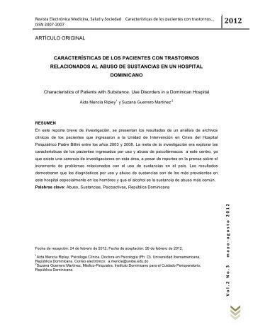 Características de los Pacientes con Trastornos Relacionados al ...