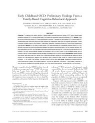 Early Childhood OCD: Preliminary Findings From a Family-Based ...