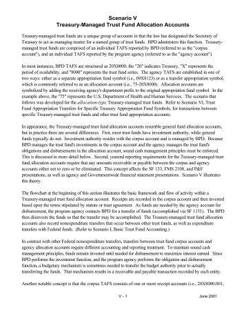 Scenario V Treasury-Managed Trust Fund Allocation Accounts