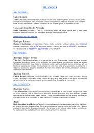 LLISTA VINS 2007 SENSE PREU - Conecta6
