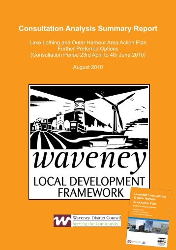 Consultation Analysis Summary Report - Waveney District Council