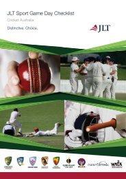 JLT Sport Game Day Checklist - Kenmore Junior Cricket