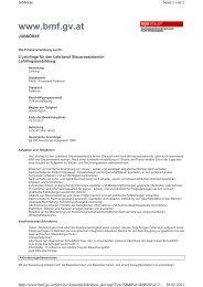 Ausschreibung FA Feldkirch - Vorderland