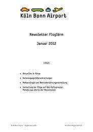 Newsletter Fluglärm Januar 2012