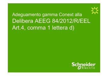 Procedura adeguamento Conext alla Delibera ... - Schneider Electric