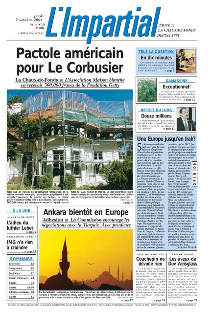 octobre Arcinfo Edition du 7 ch 2004 6Y7bgfvy