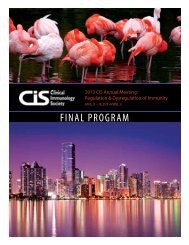 April 25 - Clinical Immunology Society