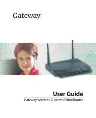 Using Your Gateway WGR-250 Wireless Router