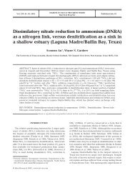 Dissimilatory nitrate reduction to ammonium as a nitrogen link ...