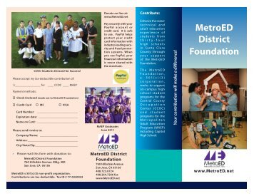 FoundationBrochure10.. - Metropolitan Education District
