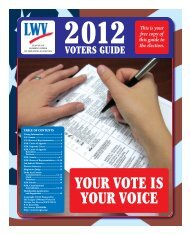LWV Greater Las Cruces Voters' Guide - League of Women Voters ...