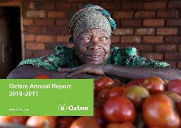 Oxfam Annual Report 2010-2011 - Oxfam Blogs