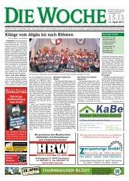 Ausgabe 15/13 - Redaktion + Verlag