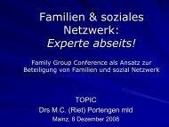 Familien & soziales Netzwerk: Experte abseits! - ism