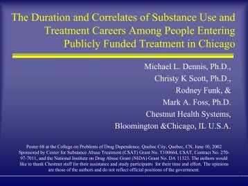 The Duration and Correlates of Substance Use and Treatment ...