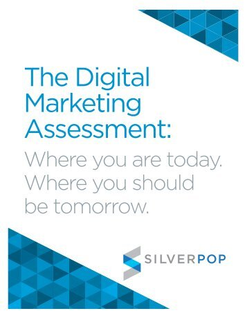 The Digital Marketing Assessment: - H+W CONSULT