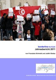 borderline-europe Jahrebericht 2011 als PDF