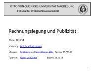 Kapitel 1 - Otto-von-Guericke-Universität Magdeburg