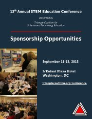 Sponsorship Opportunities - Triangle Coalition
