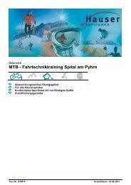 MTB - Fahrtechniktraining Spital am Pyhrn  - Hauser exkursionen