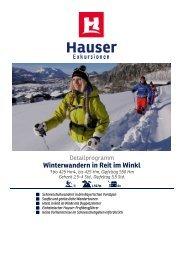 Winterwandern in Reit im Winkl - Hauser exkursionen