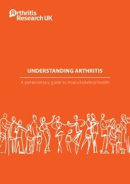 a short booklet - The Arthritis and Musculoskeletal Alliance