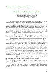 Discours de Jean Tulard - Académie des sciences morales et ...