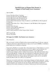 Interfaith Letter to Oregon State Senate in Support of Paid Family ...
