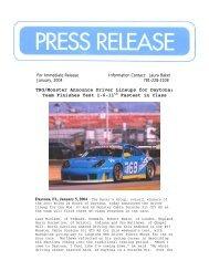 TRG/Monster Announce Driver Lineups for Daytona - RJ Valentine ...