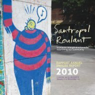 RAPPORT ANNUEL ANNUAL REPORT - Santropol Roulant