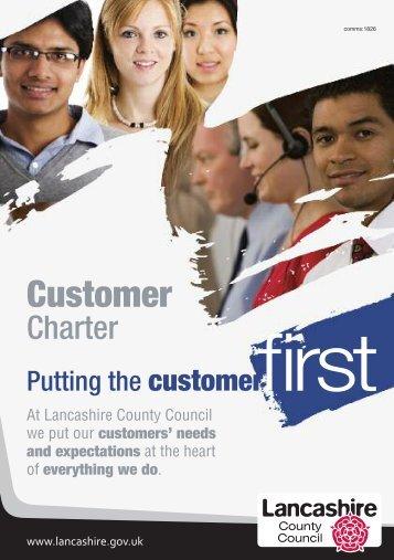Customer Charter - Lancashire County Council