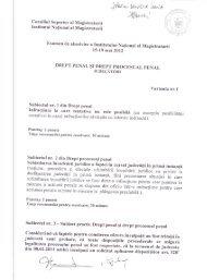 «nu - Institutul Naţional al Magistraturii