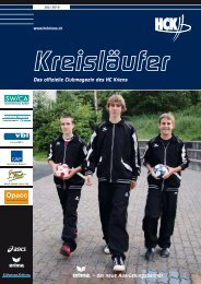 – der neue Ausrüstungspartner Das offizielle ... - HC Kriens-Luzern