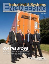 Fall 2009 - H. Milton Stewart School of Industrial & Systems ...