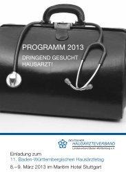 PROGRAMM 2013 - Deutscher Hausärzteverband Landesverband ...