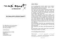 Info-Broschüre - Max-Ernst-Gymnasiums