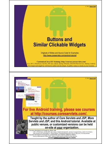Buttons and Similar Clickable Widgets - Custom Training Courses ...