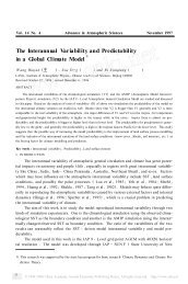 The Interannual Variability and Predictability in a Global Climate ...