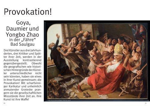 Goya, Daumier und Yongbo Zhao - Kulturmagazin-Bodensee.de