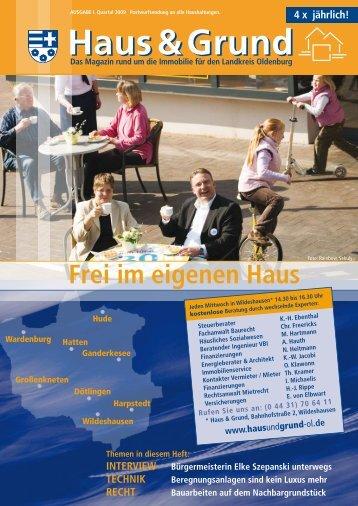 Frei im eigenen Haus - Haus & Grund Landkreis Oldenburg