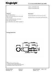 Features T-1 3/ 4 (5mm) SUPER BRIGHT LED ... - Komponenten