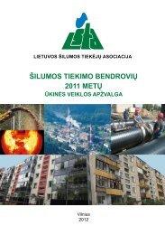 2011 metai statistika.pdf - Lietuvos šilumos tiekėjų asociacija (LŠTA)