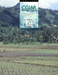 CGIAR Annual Report 1995-96 - CGIAR Library