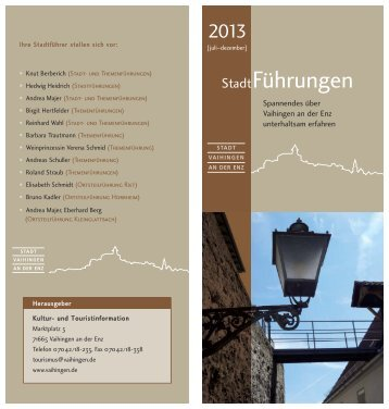 Stadtführungen 2 Halbjahr 2013 I.pdf - Stadt Vaihingen an der Enz