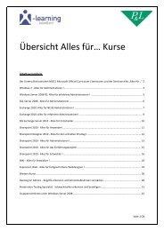 Übersicht Alles für… Kurse - X-Learning.de