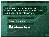 international comparison of corporate governance guidelines and ...