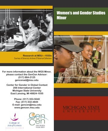 WGS Minor Brochure.indd - Center for Gender in Global Context ...