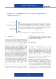 Enaction as a Conceptual Framework for ... - David Vernon